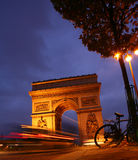 Paris arc de triomphe Royalty Free Stock Photos
