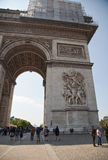 Paris Arc de Triomphe Royaltyfria Foton