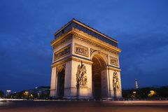 Paris - the Arc de Triomphe Stock Images
