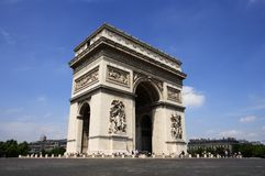 Paris - the Arc de Triomphe Royalty Free Stock Photography