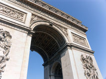 Paris,Arc de Triomphe Royalty Free Stock Photo
