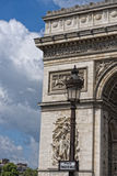 Paris arc de triomphe detail. On sunny day Royalty Free Stock Photography