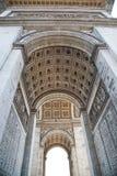 Paris, Arc de Triomphe. Paris, dettail of the Arc de Triomphe Stock Images