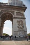 Paris, Arc de Triomphe. Paris, dettail of the Arc de Triomphe Royalty Free Stock Photos