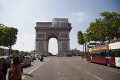 Paris, Arc de Triomphe. Paris, dettail of the Arc de Triomphe Stock Photo