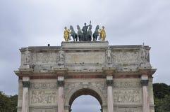 Paris Arc de Triomphe du Karusell Arkivbilder