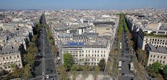 Paris from Arc de Triomphe, France. View on Paris from Arc de Triomphe, France Royalty Free Stock Images