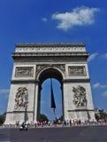 Paris The Arc de Triomphe stock photography