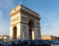 Paris. Arc de Triomphe. Paris, France - January 1, 2015: Arc de Triomphe at the Place Charles de Gaulle. One of the most visited attractions in Paris Stock Photography