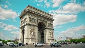 Paris Arc de Triomphe stock footage
