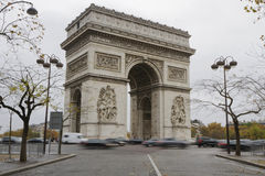 Paris Arc de Triomphe Stock Photos