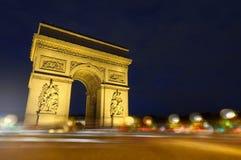 Paris - Arc de Triomphe. Paris, France: Arc de Triomphe and place Charles de Gaulle at night Royalty Free Stock Photography