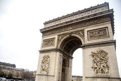 Paris - Arc de Triomphe. The Arc de Triomphe de l`Étoile Royalty Free Stock Photo