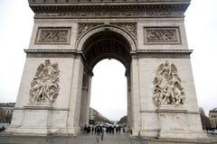 Paris - Arc de Triomphe. The Arc de Triomphe de l`Étoile Royalty Free Stock Photography