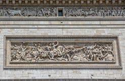 Paris Arc de Triomphe relief Stock Images