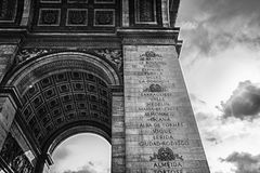 Paris, Arc de Triomphe Royalty Free Stock Photo