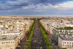 Paris from Arc de Triomphe 01 Royalty Free Stock Photo