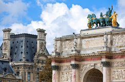 Paris. The Arc de Trionphe du Carrousell Stock Photo