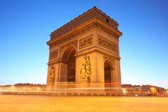 Paris, Arc de Triumph at evening Royalty Free Stock Images