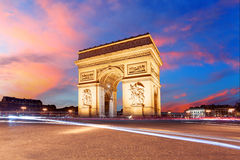 Paris, Arc de Triumph, France.  Royalty Free Stock Photography