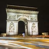 Paris, Arc de Triumph Stock Images