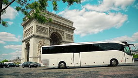 Paris Arch of Triomphe stock footage