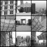 Paris Collage Black White Stock Photos
