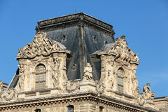 Paris -  Architectural fragments of Louvre building Royalty Free Stock Photography
