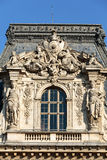 Paris -  Architectural fragments of Louvre building Royalty Free Stock Image