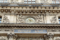 Paris -  Architectural fragments of Louvre building Royalty Free Stock Photo