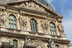 Paris -  Architectural fragments of Louvre building Stock Photography