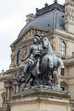 Paris -  Architectural fragments of Louvre building Stock Images