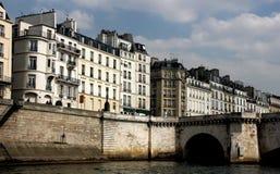 Paris architecture. From Seine river Stock Photos