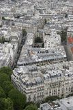 Paris architecture from above. Paris architecture taken from the Eiffel tower royalty free stock images