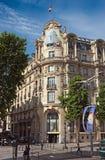 Paris - Architecture of city. PARIS, FRANCE - JUNE 11, 2014: Parisian architecture near the River Seine Stock Photos