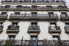 Paris Architecture. PARIS, FRANCE - 19TH MARCH 2014: The outside of a building in Paris showing the architecture style Stock Photography