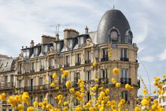 Paris Architecture in Spring Royalty Free Stock Photography