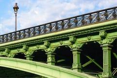 Paris arcole bridge Stock Photography
