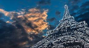 Paris art background Royalty Free Stock Photos