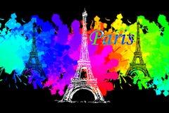 Paris art design illustration Stock Photography
