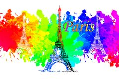 Paris art design illustration Royalty Free Stock Image