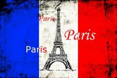 Paris art design illustration Royalty Free Stock Images