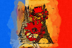 Paris art design illustration Royalty Free Stock Photography