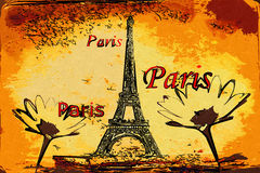 Paris art design illustration Stock Images