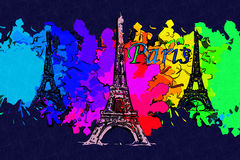 Paris art design illustration Stock Photography
