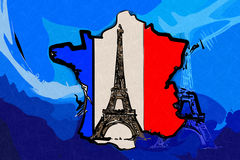 Paris art design illustration Stock Image