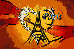 Paris art design illustration Royalty Free Stock Images