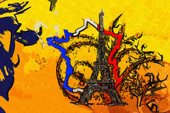 Paris art design illustration Stock Photos