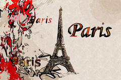 Paris art design illustration Royalty Free Stock Photos