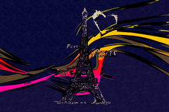 Paris art design illustration Stock Photo